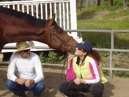 Lorena, her husband and horse!